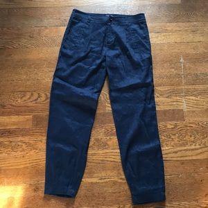 VINCE 2 Navy Blue Linen Pants
